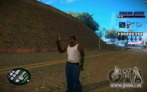 C-HUD Tawer Gitto pour GTA San Andreas troisième écran