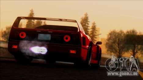 Ferrari F40 1987 für GTA San Andreas Unteransicht