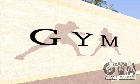 New gym pour GTA San Andreas deuxième écran
