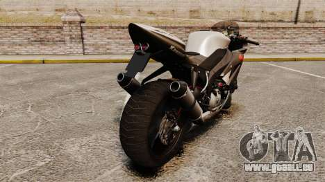 Kawasaki Ninja ZX-6R v2.0 pour GTA 4 est un droit