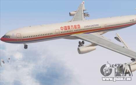 Airbus A340-300 China Eastern pour GTA San Andreas vue de dessus