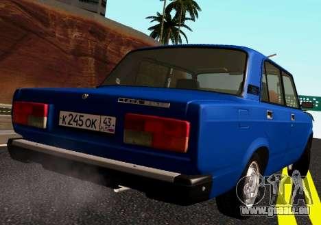 VAZ-2107 Riva pour GTA San Andreas sur la vue arrière gauche