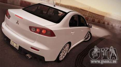 Mitsubishi Lancer Evolution pour GTA San Andreas laissé vue