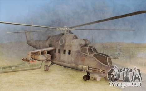 Mi-24D Hind from Modern Warfare 2 für GTA San Andreas