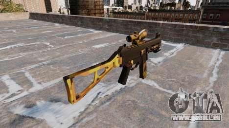 Le pistolet mitrailleur, UMP45 Automne Camos pour GTA 4 secondes d'écran