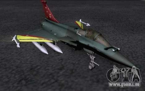 Dassault Rafale M für GTA San Andreas Rückansicht
