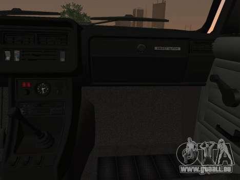 VAZ-2107 für GTA San Andreas Innenansicht