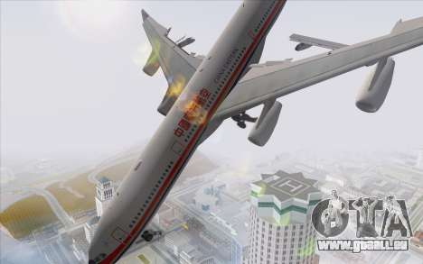 Airbus A340-300 China Eastern für GTA San Andreas linke Ansicht