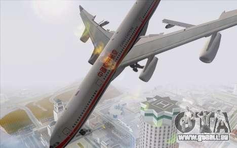 Airbus A340-300 China Eastern pour GTA San Andreas laissé vue