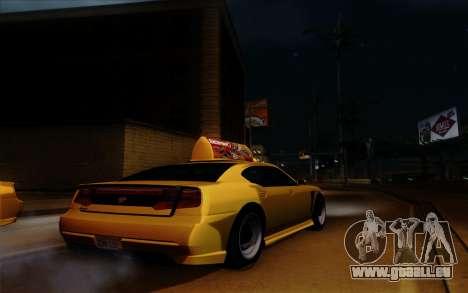 Buffalo Taxi pour GTA San Andreas vue intérieure
