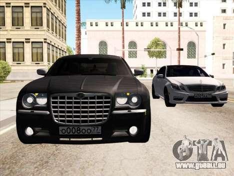 Chrysler 300C 2009 pour GTA San Andreas vue de dessus