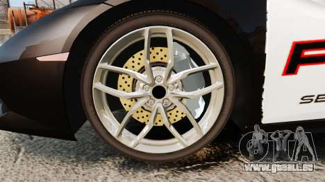Lamborghini Huracan Cop [Non-ELS] pour GTA 4 Vue arrière