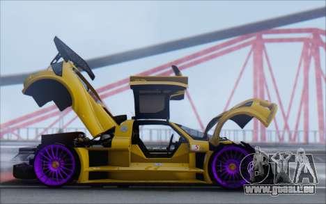 Gumpert Apollo S Autovista für GTA San Andreas Innenansicht