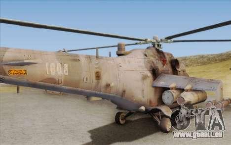 Mi-24D Hind from Modern Warfare 2 für GTA San Andreas Rückansicht