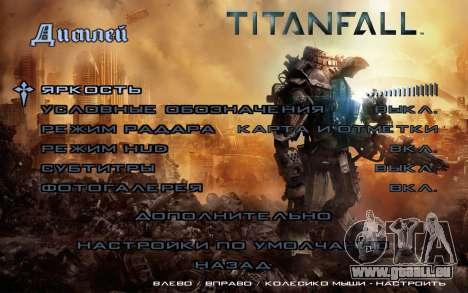 Les écrans de démarrage et de menus Titanfall pour GTA San Andreas cinquième écran
