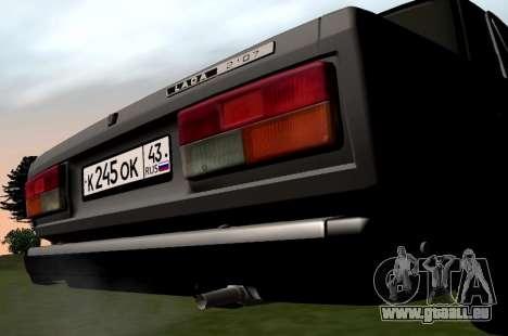 VAZ-2107 pour GTA San Andreas vue de droite