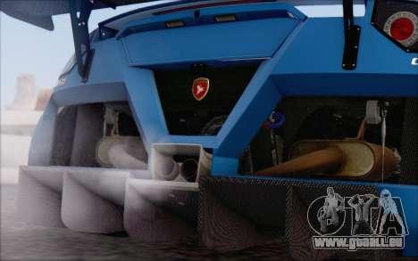 Gumpert Apollo S Autovista für GTA San Andreas Unteransicht