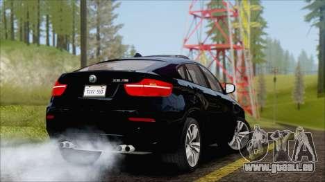 BMW X6M E71 2013 300M Wheels für GTA San Andreas rechten Ansicht