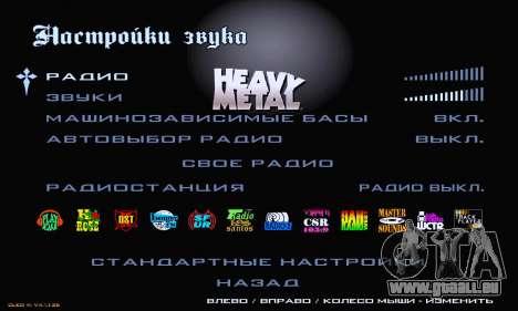 Heavy Metal Menu V.1 für GTA San Andreas sechsten Screenshot