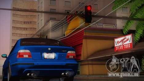 BMW E39 M5 2003 pour GTA San Andreas laissé vue