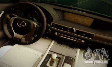 Lexus GS350 F Sport Series IV Police 2013 für GTA San Andreas zurück linke Ansicht