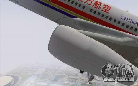 Airbus A340-300 China Eastern pour GTA San Andreas vue de droite