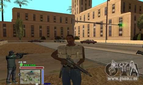 C-HUD Grove by Krutoyses pour GTA San Andreas troisième écran