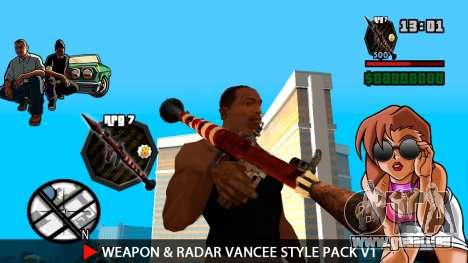Waffe & Radar VanCee Style Pack v1 für GTA San Andreas neunten Screenshot