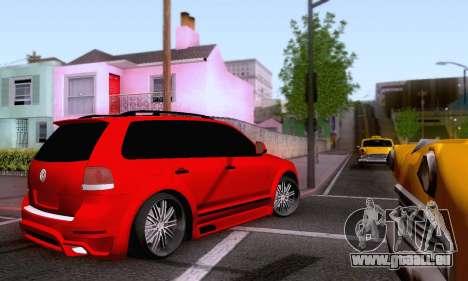 Volkswagen Touareg Mansory pour GTA San Andreas vue intérieure