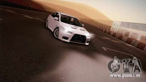 Mitsubishi Lancer Evolution für GTA San Andreas zurück linke Ansicht