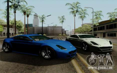 Rapid GT pour GTA San Andreas sur la vue arrière gauche