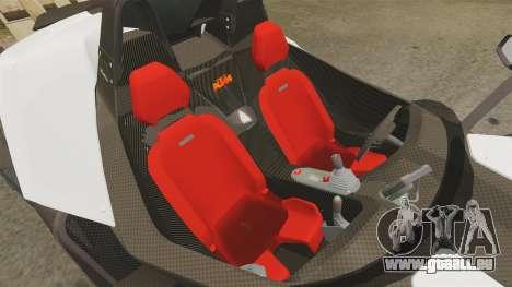KTM X-Bow R pour GTA 4 est une vue de l'intérieur