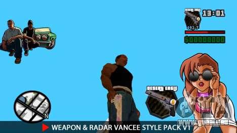 Arme & Radar VanCee Style Pack v1 pour GTA San Andreas quatrième écran