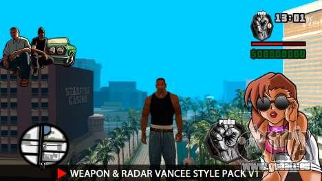 Arme & Radar VanCee Style Pack v1 pour GTA San Andreas deuxième écran