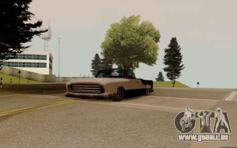 Océanique Convertible pour GTA San Andreas vue arrière