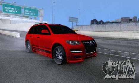 Volkswagen Touareg Mansory pour GTA San Andreas vue de côté
