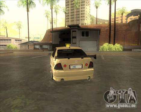 Lexus IS300 Tuneable pour GTA San Andreas vue de droite