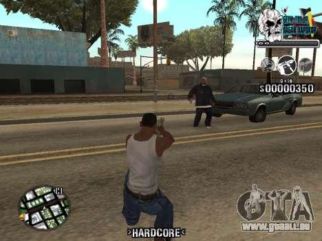 C-HUD Hardcore By KD pour GTA San Andreas quatrième écran