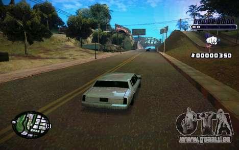 C-HUD Tawer Gitto pour GTA San Andreas cinquième écran