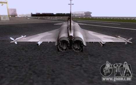Dassault Rafale M pour GTA San Andreas vue de dessous