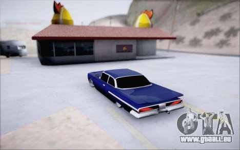 Voodoo Low Car v.1 pour GTA San Andreas vue arrière