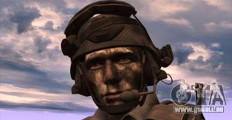 Le lieutenant David l'hesh Walker из Call Of Dut pour GTA San Andreas cinquième écran