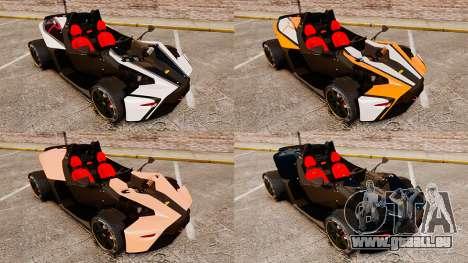 KTM X-Bow R pour GTA 4 est un côté