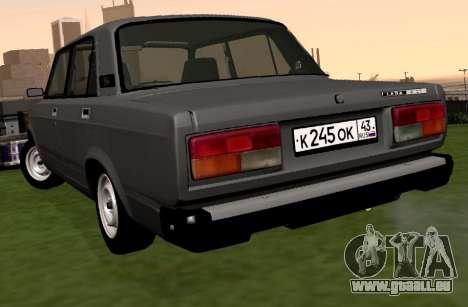 VAZ-2107 pour GTA San Andreas sur la vue arrière gauche
