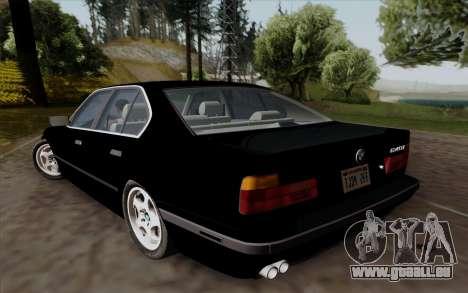BMW 540i (E34) für GTA San Andreas Rückansicht