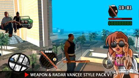 Arme & Radar VanCee Style Pack v1 pour GTA San Andreas troisième écran