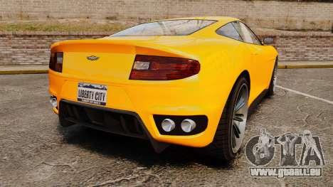 GTA V Dewbauchee Massacro pour GTA 4 Vue arrière de la gauche