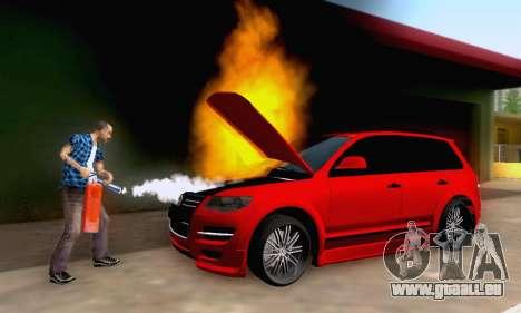 Volkswagen Touareg Mansory pour GTA San Andreas vue de dessus