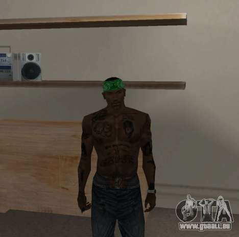 Neue bandanas für CJ für GTA San Andreas