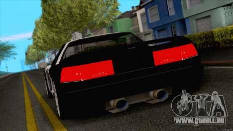Infernus Police pour GTA San Andreas sur la vue arrière gauche